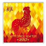 Chinese New Year 2017 Year of the Rooster Drinks Coaster Chinese New Year Gift Idea